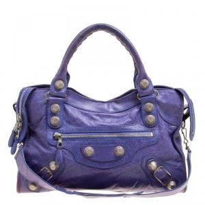 حقيبة يد توت  بالنسياغا كلاسيك سيتي GH جلد أخضر داكن