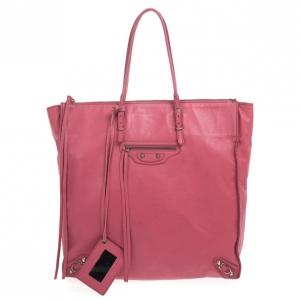 Balenciaga Pink Calfskin Papier A5