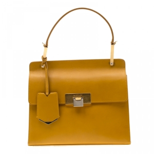 Balenciaga Mustard Leather Vintage Lady Spirit Shoulder Bag