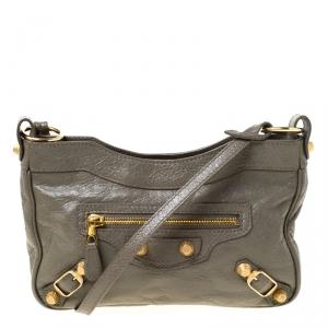 Balenciaga Galet Leather Hip Giant Crossbody Bag