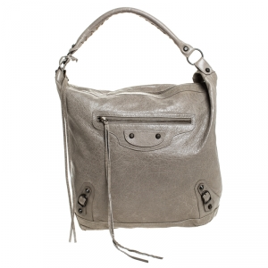Balenciaga Taupe Leather Day Bag