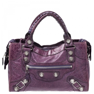 Balenciaga Grape Leather GH City Tote