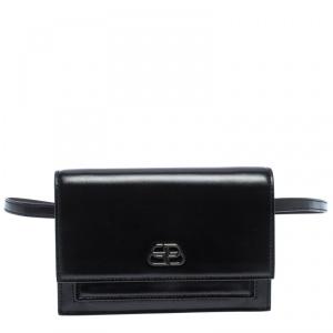 Balenciaga Black Leather XS Sharp Belt Bag