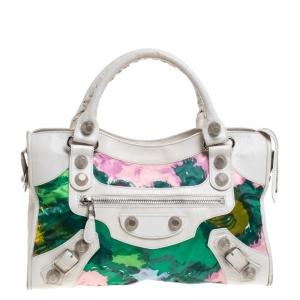Balenciaga Multicolor Leather and Nylon GSH City Bag