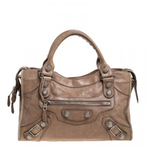 Balenciaga Sahara Leather GSH City Tote