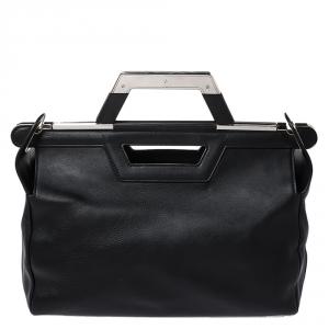 Balenciaga Black Leather Ray Doctor Satchel