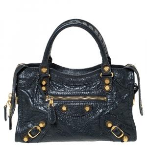 Balenciaga Anthracite Leather RGH Mini City Bag