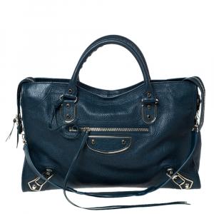 Balenciaga Deep Green Leather RGH City Bag