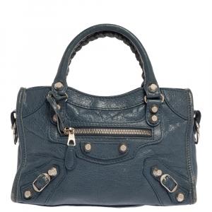 Balenciaga Tempete Leather Mini Classic City Bag