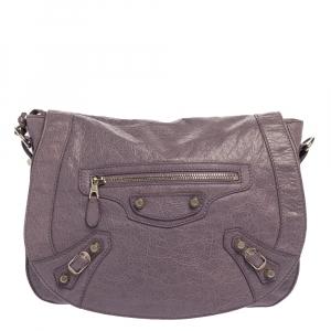 Balenciaga Glycine Agneau Leather RSH Neo Folk Messenger Bag