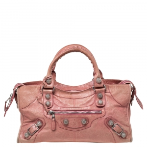 Balenciaga Light Pink Leather Part Time SGH Tote