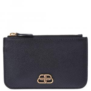 Balenciaga Black Leather BB Wallet