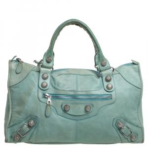 Balenciaga Vert D'eau Leather GSH Work Tote