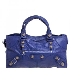 Balenciaga Purple Leather GSH Part Time Tote