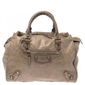 Balenciaga Gris Poivre Leather Giant Hardware 21 Midday Bag