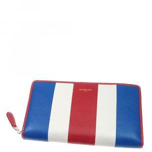 Balenciaga Multicolor Leather Bazar Zip-around Wallet