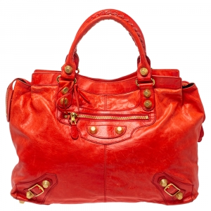 Balenciaga Rose Corail Leather GGH Midday Bag
