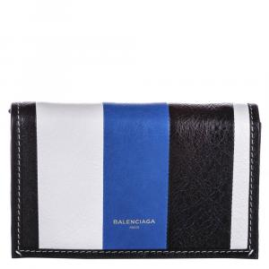 Balenciaga Tri-color Leather Bazar Wallet on Chain Bag