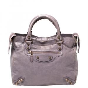 Balenciaga Lilac Leather RH Velo Tote