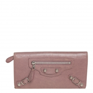 Balenciaga Tomette Leather Classic Money Continental Wallet
