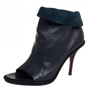 Balenciaga Black Leather Glove Open Toe Ankle Boots Size 39 - used