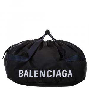 Balenciaga Black Nylon S Wheel Everyday Travel Bag