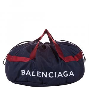Balenciaga Blue Nylon S Wheel Everyday Travel Bag