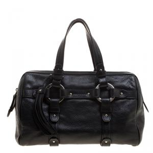 Bally Black Leather Charlyna Satchel