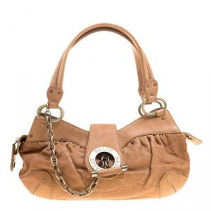 Bally Caramel Leather Moreen T Satchel