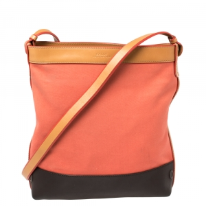 Bally Multicolor Canvas And Leather Messenger Bag