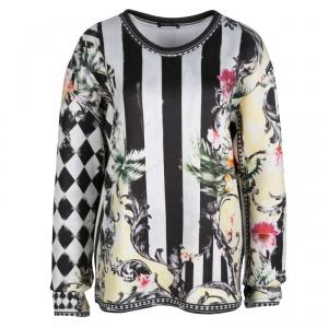 Balmain Muticolor Floral Printed Oversized Sweatshirt M
