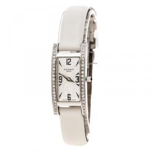 Balmain Silver White Stainless Steel and Diamond 2191 Women's Wristwatch 18 mm