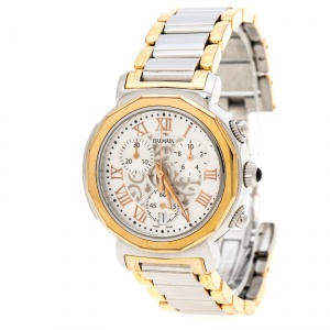Balmain Silver White Stainless Steel And Rose Gold Plated Steel Madrigal Chrono Lady Sl 5898 Women's Wristwatch 35 MM