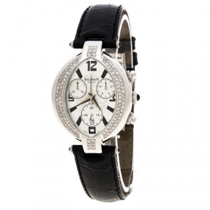 Balmain Silver Stainless Steel And Diamond Excessive Chrono 5831 Women's Wristwatch 32 mm