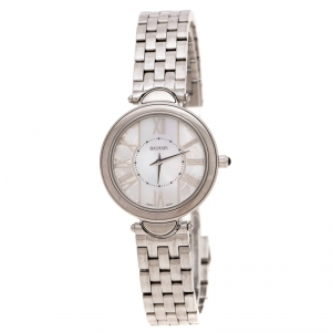 Balmain White Mother of Pearl Stainless Steel Haute Elegance B8071.33.83 Women's Wristwatch 27MM