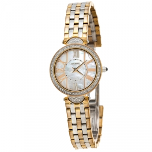 Balmain Mother of Pearl Two-Tone Stainless Steel Diamonds Haute Elegance 8076 Women's Wristwatch 27 mm