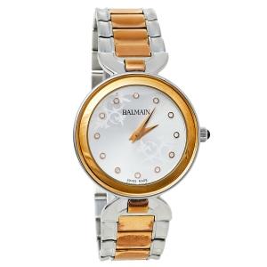 Balmain Silver Two-Tone Stainless Steel Madrigal Lady II 4898 Women's Wristwatch 32 mm
