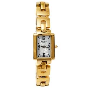 ساعة يد نسائية بالمان بلمايا 2083 ستانلس ستيل مطلي ذهب أصفر فضي 18.50 مم