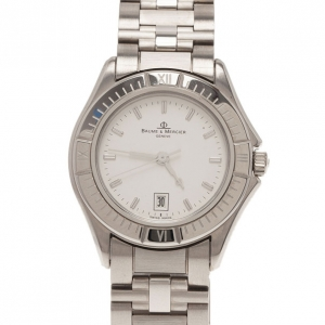 Baume & Mercier White Stainless Steel Classic Women's Wristwatch 30MM