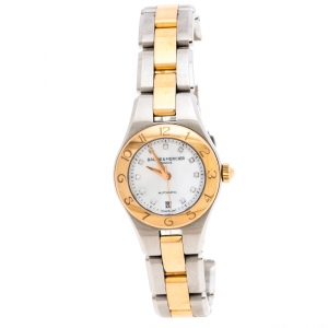 Baume & Mercier Mother of Pearl Two-Tone Stainless Steel Linea 10114 Women's Wristwatch 27 MM