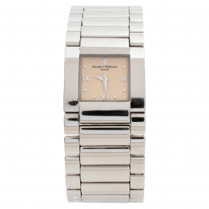 Baume & Mercier Beige Stainless Steel Catwalk MV045197 Women's Wristwatch 24 mm