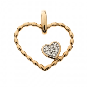 Bernhard H. Mayer Amore Twin Diamonds 18k Yellow Gold Pendant