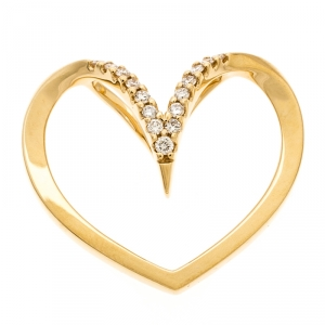Bernhard H. Mayer Milena Heart Diamond 18k Yellow Gold Pendant