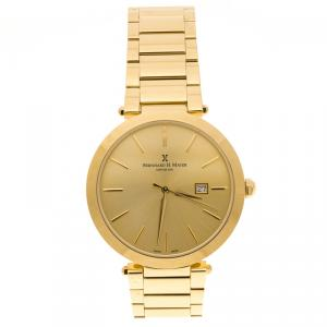 Bernhard H. Mayer Gold Plated Stainless Steel Aurora Women's Wristwatch 40 mm