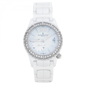 Bernhard H. Mayer White La Vida Ceramic Diamond B2416/CW Women's Wristwatch 38 mm