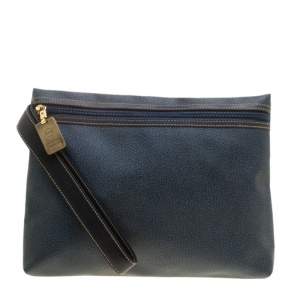 Borbonese Navy Blue PVC Clutch