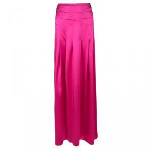Boss by Hugo Boss Pink Silk Satin Varana Maxi Skirt L