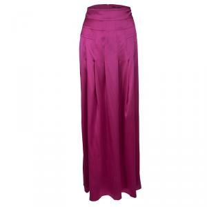 Boss by Hugo Boss Pink Silk Satin Varana Maxi Skirt M