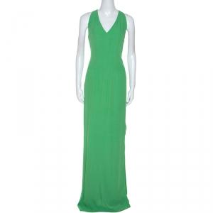 Boss By Hugo Boss Green Sleeveless V-Neck Dallisia Maxi Dress M