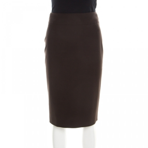 Boss By Hugo Boss Brown High Waist Pencil Skirt M